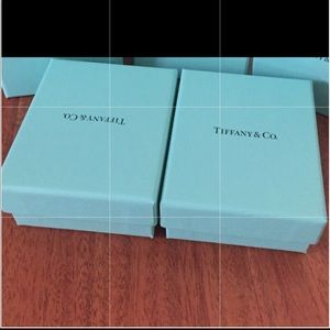 TWO Authentic Tiffany & Co. boxes w/cotton insert